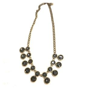 LOFT: smoky grey and gold necklace